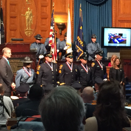 Tpr Nathan Monteiro, Det Sgt John R Stowe Jr., Sgt Wallace J Perry IV, Officer Joshua A Parsons - Medal of Valor and Officer Jared P MacDonald - Medal of Honor